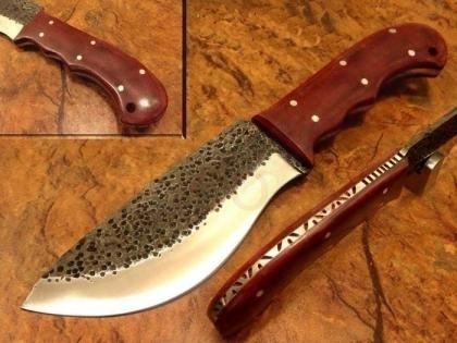 Hammered Carbon Steel Hunting Knife