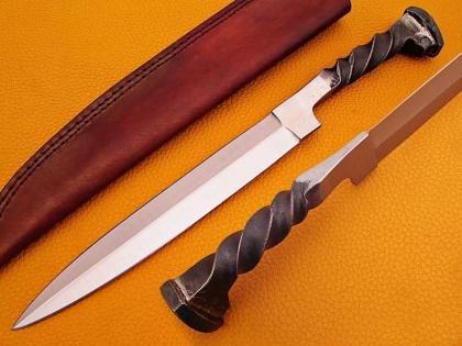 Handmade Rail Road Spike Steel Hunting Knife
