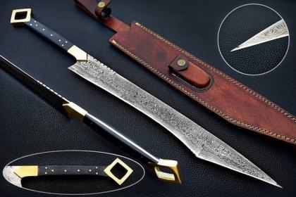 MICARTA DAMASCUS SWORD