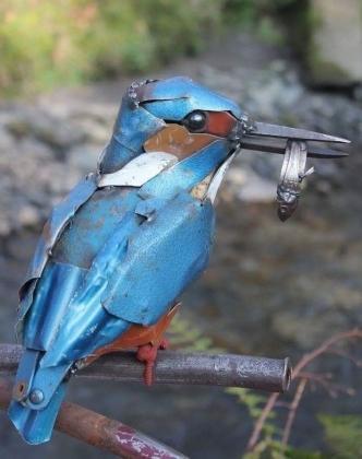 Decorative Metal Ram Chiraiya Bird