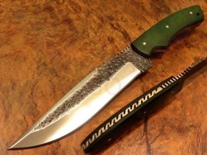 Hammered Carbon Steel Star War Hunting Knife