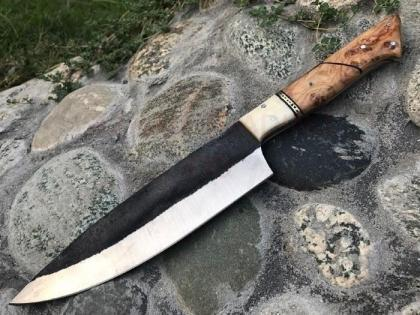 Hammered Carbon Steel Chef Knife