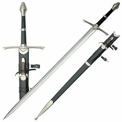 LOTR Aragorn Strider Ranger Sword with knife Replica