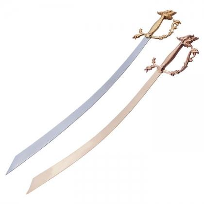 Belly Dance Dragon Head Scimitar Sword
