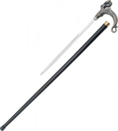 SERPENT DRAGON WALKING CANE SWORD