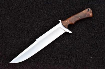 Handmade D2 Steel Hunting Knife with Wood Handle