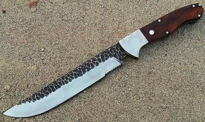 Hammered Carbon Steel Bowie Knife