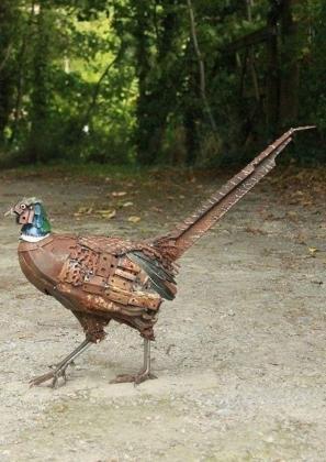 Decorative Metal Peacock Bird