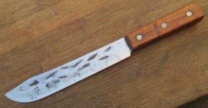 Hammered Carbon Steel Butcher Knife