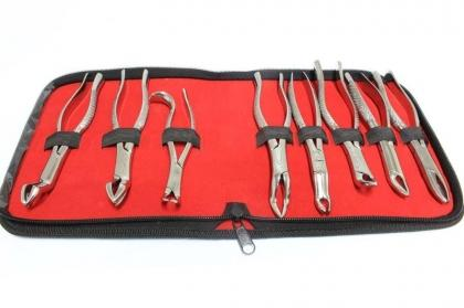 8 Pc Set of Dental Extracting Forceps